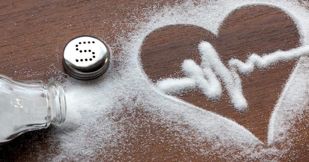 рисунок сердце из соли
